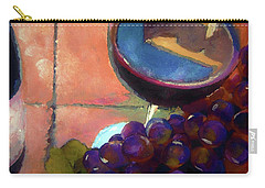 Italian Tile And Fine Wine Carry-all Pouch