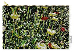 Italian Wildflowers With Red Poppies Carry-all Pouch
