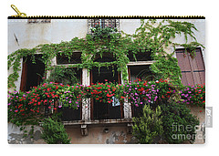 Carry-all Pouch featuring the photograph Italy Veneto Marostica Main Square by Frank Stallone