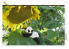 Carry-all Pouch featuring the photograph It's A Big Sunflower by Ausra Huntington nee Paulauskaite