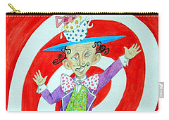 It's A Mad, Mad, Mad, Mad Tea Party -- Humorous Mad Hatter Portrait Carry-all Pouch