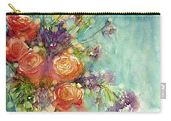 It's A Teal World Carry-all Pouch by Judith Levins
