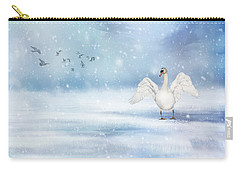 It's Snowing Carry-all Pouch by Annie Snel