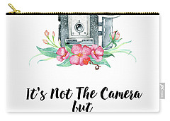 Carry-all Pouch featuring the digital art It's Who Is Behind The Camera by Colleen Taylor