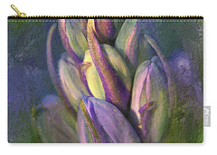 Carry-all Pouch featuring the digital art Itty Bitty Baby Bluebells by Lois Bryan