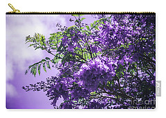 Carry-all Pouch featuring the photograph Jacaranda Mimosifolia Kula Maui Hawaii by Sharon Mau