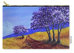 Carry-all Pouch featuring the painting Jacaranda Trees Maui by Darice Machel McGuire