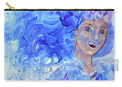 Carry-all Pouch featuring the painting Jack Frost's Girl by Claire Bull