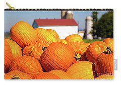 Jack-o-lantern Pumpkins At Farm Carry-all Pouch