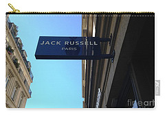 Carry-all Pouch featuring the photograph Jack Russell Paris by Therese Alcorn