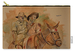 Carry-all Pouch featuring the painting Jack Simpson And Duffy by Ray Agius