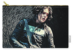 Carry-all Pouch featuring the digital art Jack White by Taylan Apukovska