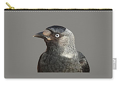 Jackdaw Corvus Monedula Bird Portrait Vector Carry-all Pouch