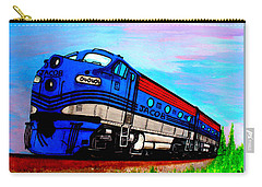 Carry-all Pouch featuring the painting Jacob The Train by Pjohn Artman