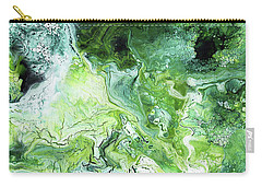 Jade- Abstract Art By Linda Woods Carry-all Pouch
