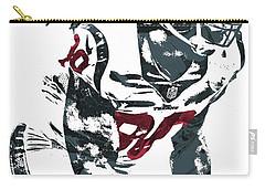 Carry-all Pouch featuring the mixed media Jadeveon Clowney Houston Texans Pixel Art by Joe Hamilton