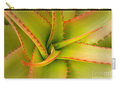 Jagged Aloe Carry-all Pouch by Ana V Ramirez