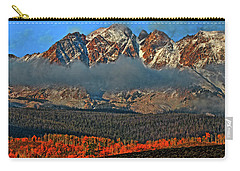 Carry-all Pouch featuring the photograph Jagged Peaks Fall by Scott Mahon