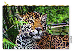 Jaguar At Peace Carry-all Pouch