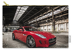 Jaguar F-type - Red - Front View Carry-all Pouch