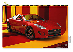 Jaguar F-type - Red Retro Carry-all Pouch