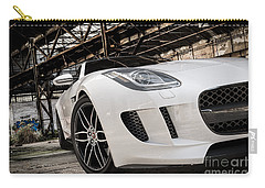 Jaguar F-type - White - Front Close-up Carry-all Pouch