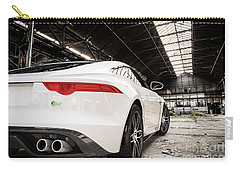 Jaguar F-type - White - Rear Close-up Carry-all Pouch