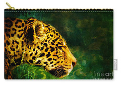 Jaguar In The Grass Carry-all Pouch