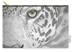 Carry-all Pouch featuring the drawing Jaguar by Mayhem Mediums