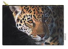 Jaguar Portrait Carry-all Pouch by David Stribbling