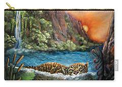 Jaguar Sunset  Carry-all Pouch by Retta Stephenson