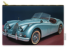 Jaguar Xk140 1954 Painting Carry-all Pouch