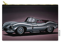 Jaguar Xkss 1957 Painting Carry-all Pouch by Paul Meijering