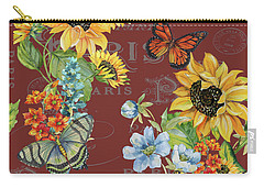 Carry-all Pouch featuring the painting Jaime Mon Jardin-jp3988 by Jean Plout