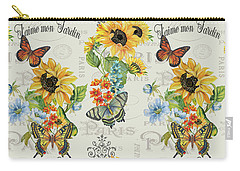 Carry-all Pouch featuring the painting Jaime Mon Jardin-jp3989 by Jean Plout
