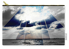 Jamaica Sunset Art Deco Bw With Color Carry-all Pouch