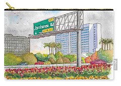 Jamboree Rd. Freeway 405 Exit Sign In Irvine, California Carry-all Pouch