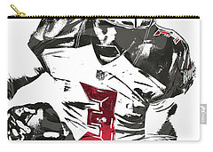Carry-all Pouch featuring the mixed media Jameis Winston Tampa Bay Buccaneers Pixel Art by Joe Hamilton