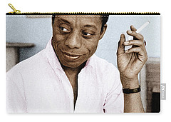 Carry-all Pouch featuring the photograph James Baldwin by Granger