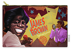 Carry-all Pouch featuring the drawing James Brown by Nelson Dedos Garcia