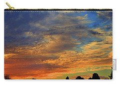 Carry-all Pouch featuring the photograph Jangly Sunset by Mark Blauhoefer