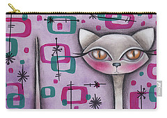 Janice Cat Carry-all Pouch by Abril Andrade Griffith