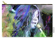 Janis Joplin Blue Carry-all Pouch