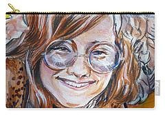 Janis Joplin Carry-all Pouch by Bryan Bustard