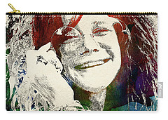 Janis Joplin Carry-all Pouch by Mihaela Pater