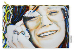 Janis Joplin Pop Art Portrait Carry-all Pouch