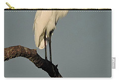 January Egret Carry-all Pouch by Peg Toliver