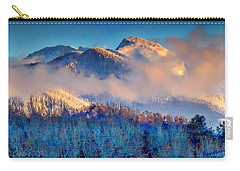 Carry-all Pouch featuring the digital art January Evening Truchas Peak by Anastasia Savage Ealy