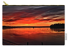 January Sunrise Onset Pier Carry-all Pouch