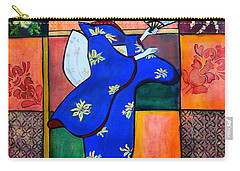 Japan Geisha Kimono Colorful Decorative Painting Ethnic Gift Decor Carry-all Pouch